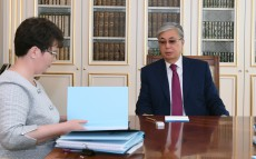 Kassym-Jomart Tokayev received Natalya Godunova, Chairman of the Accounts Committee for Control over Execution of the Republican budget