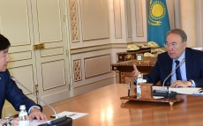 Meeting with Mayor of the city of Almaty Bauyrzhan Baibek